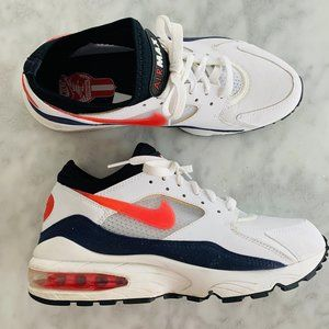 "Nike Air Max 93 ""Flame Red"" Habanero 8.5 #306551"